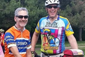 Pete and Robb at a biking event
