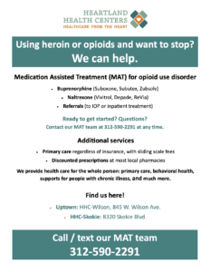 Medication Assisted Treatment flyer