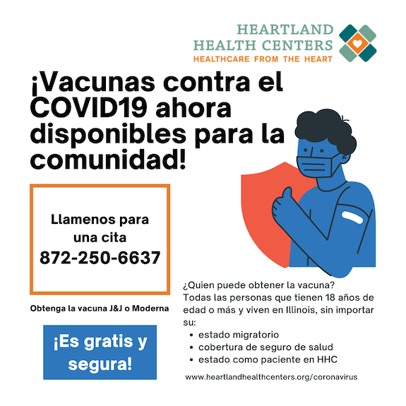 Spanish call COVID-19 hotline flyer- call info with a line drawing, spanish